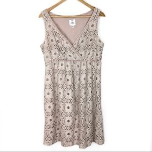 Suzi Chin for Maggy Boutique Dress Size 12 Tan